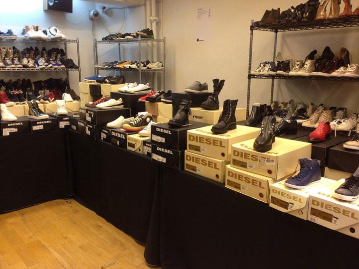 Diesel Sample Sale Footwear