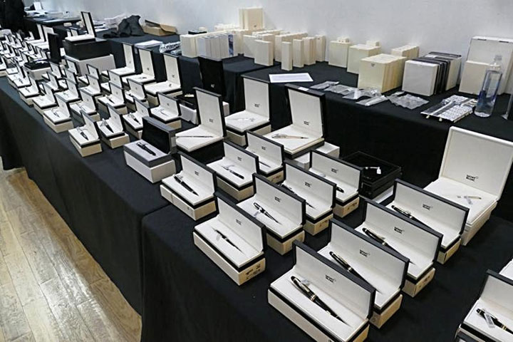 Pics from Inside the Montblanc GANT Sample Sale