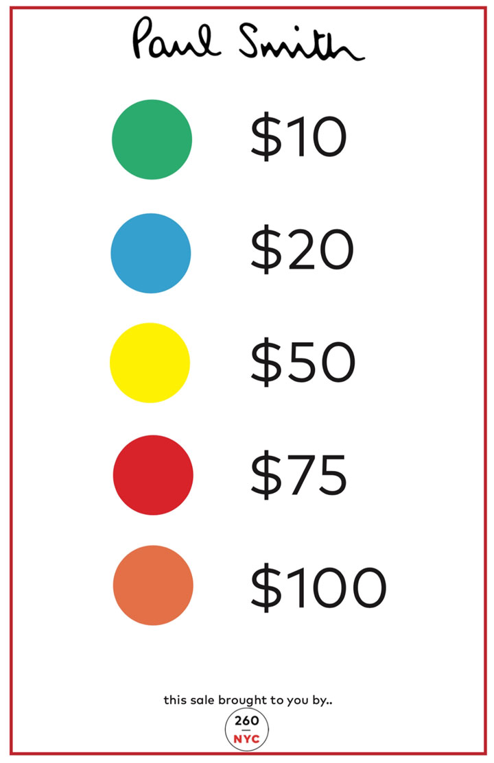 Paul-Smith Sample Sale Price Tags