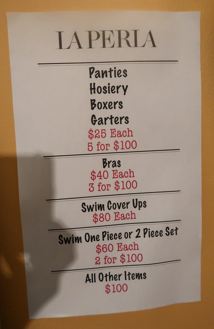 La Perla Sample Sale Prices