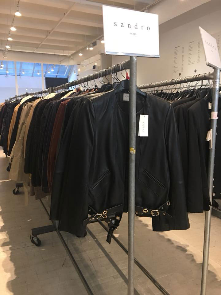 Sandro Sample Sale Leather Jacket