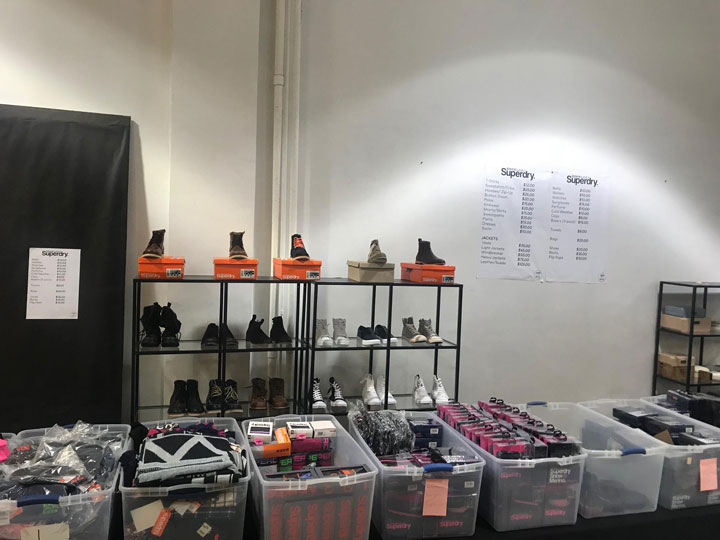 Superdry Sample Sale Footwear