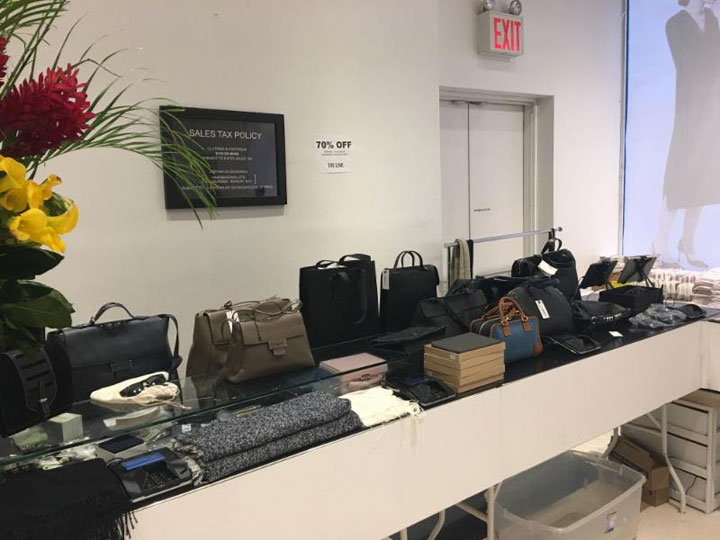 The Line Sample Sale Accessories