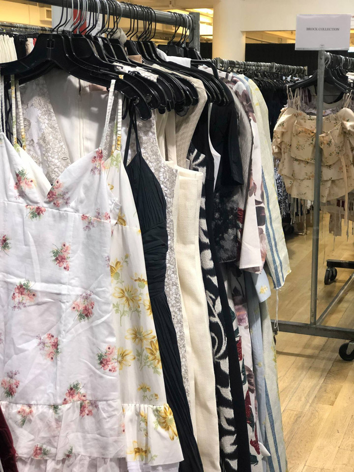 Pics from Inside the Brock Collection Sample Sale