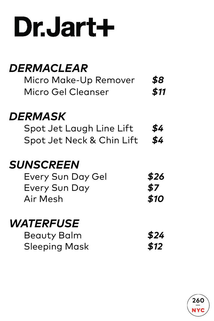 Dr Jart+ Sample Sale Price List