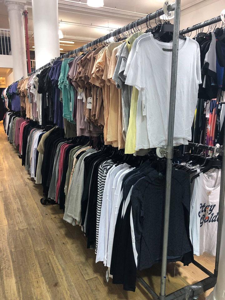 The Shop at Equinox Sample Sale Apparel