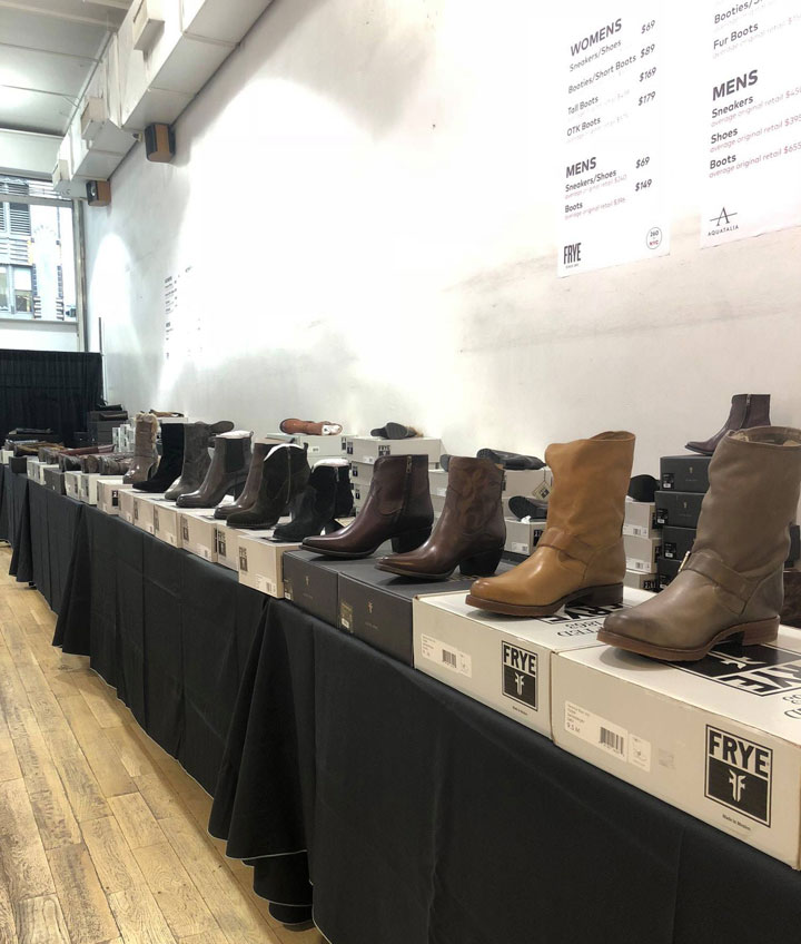 Frye Sample Sale Boots