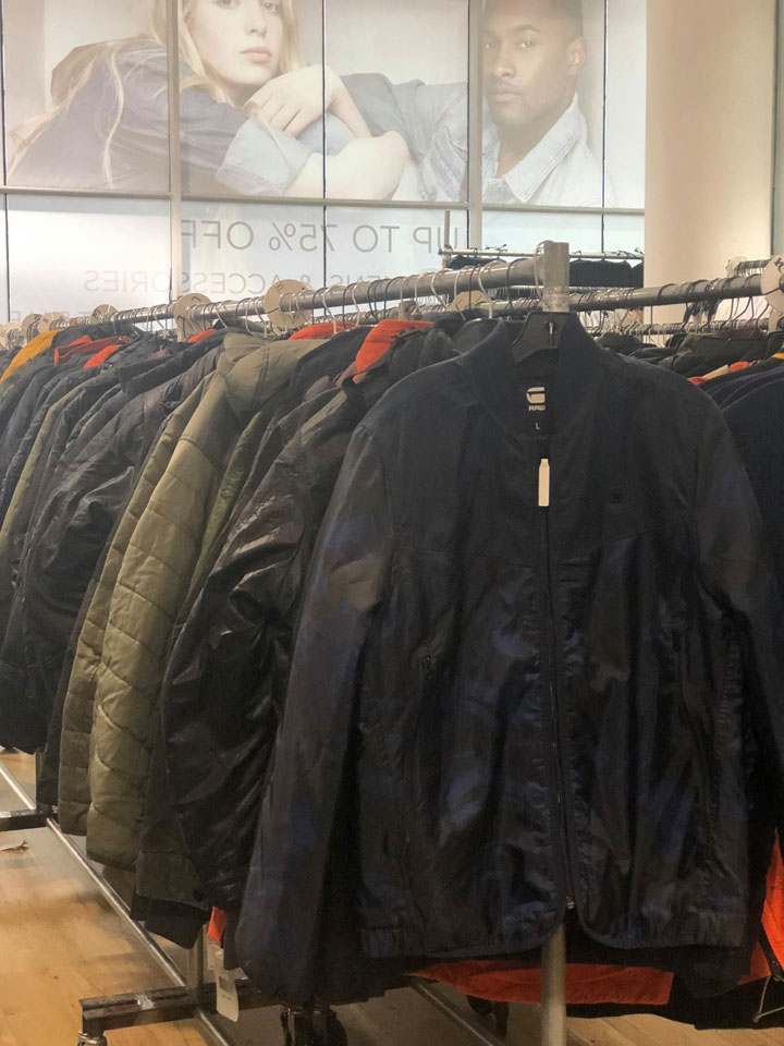 G-Star RAW Sample Sale Jackets