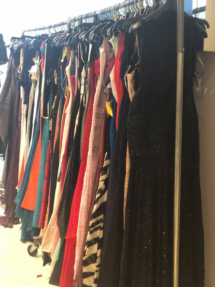 Herve Leger Sample Sale Gowns