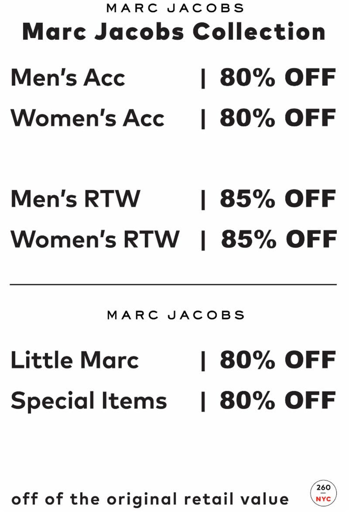 Marc Jacobs Sample Sale Price List
