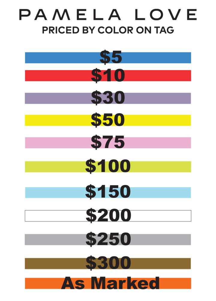 Pamela Love Sample Sale Price List