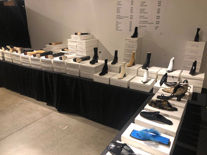 Helmut Lang Sample Sale Footwear