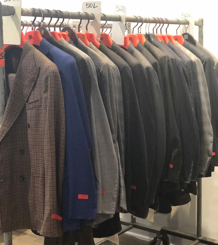 Pics from Inside the Isaia Napoli Sample Sale