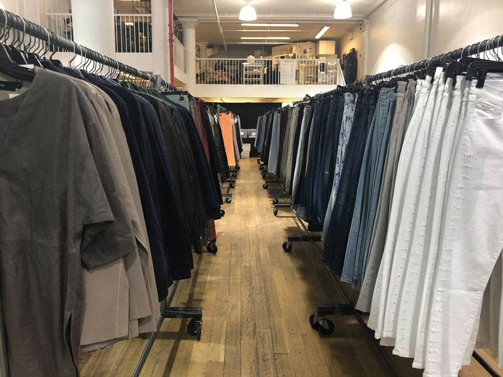 Pics from Inside the J Brand Sample Sale