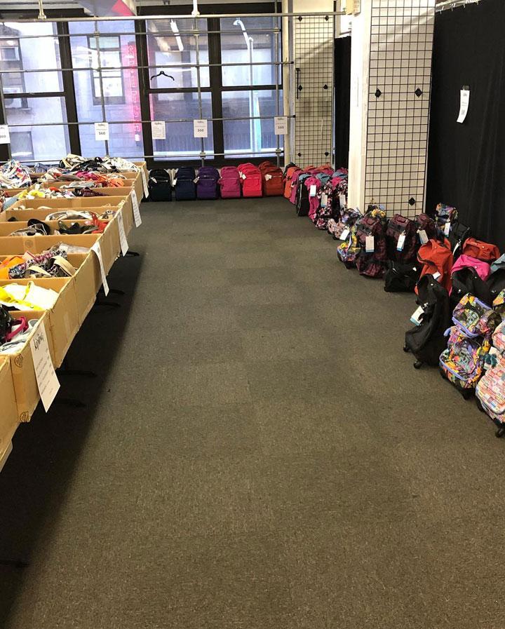Pics from Inside the Kipling Sample Sale