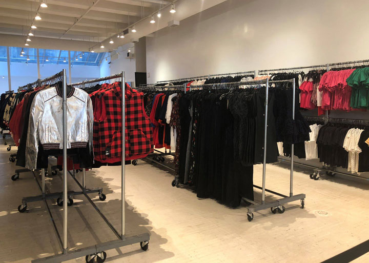 Pics from Inside the Maje Sample Sale