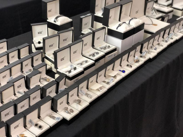 Pics from Inside the Montblanc Sample Sale