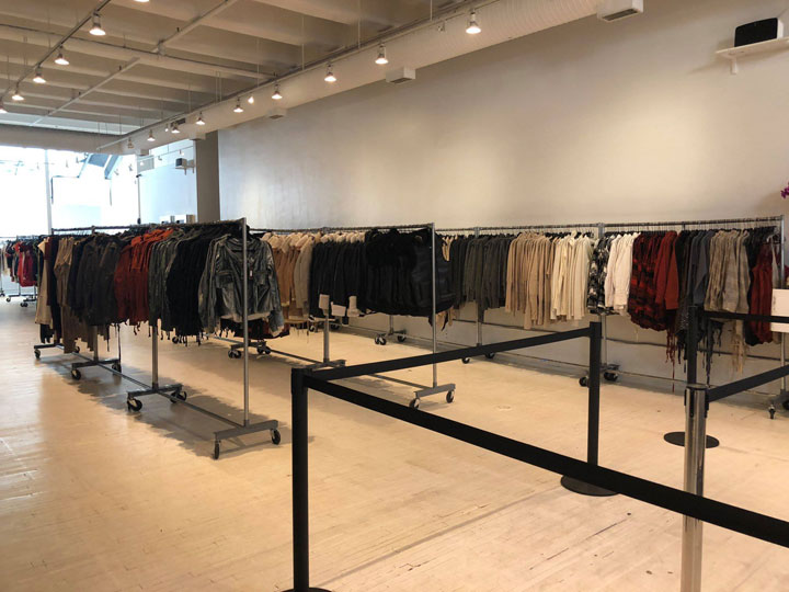 Pics from Inside the Nicholas K Sample Sale