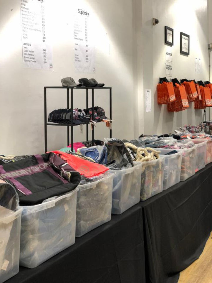 Superdry Sample Sale Accessories