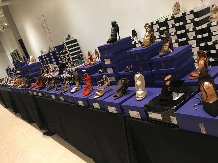 Pics from Inside the Aquazzura Sample Sale