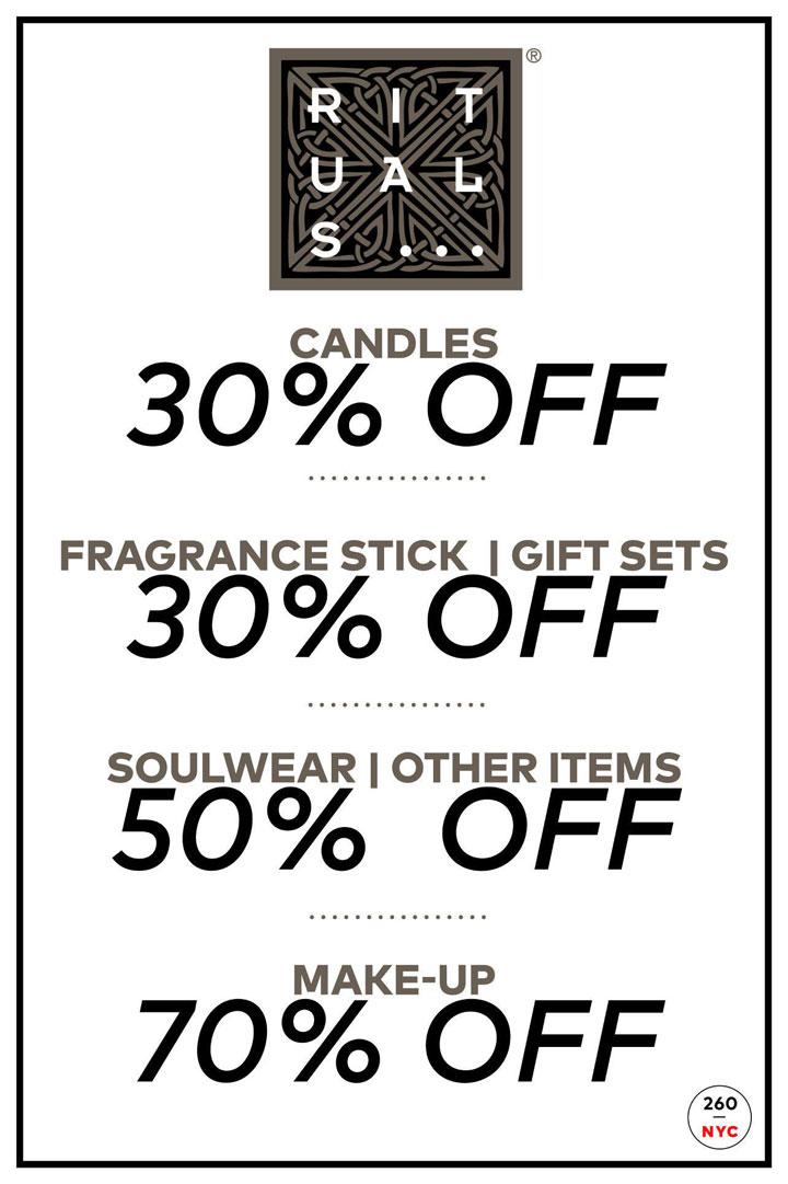 Rituals Sample Sale Price List
