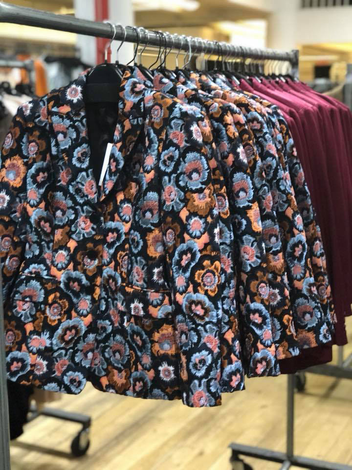 Theory Women's Sample Sale Floral Jacket