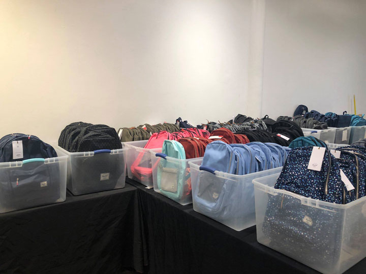 Pics from Inside the Herschel Supply Co. NY Sample Sale c8af23828198b