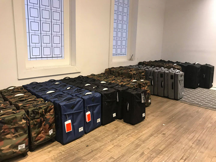 Herschel Supply Co. Sample Sale Luggage