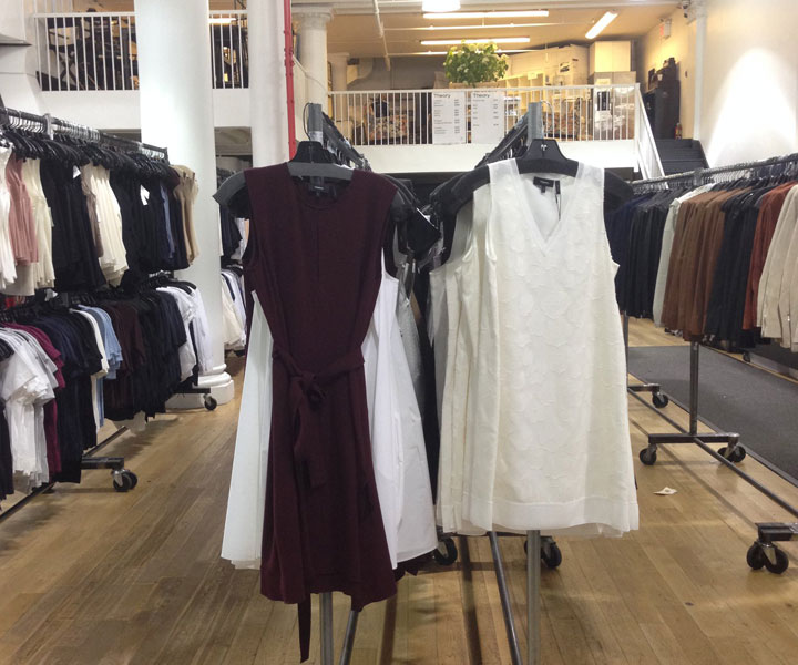 Pics from Inside the Theory Women's Sample Sale
