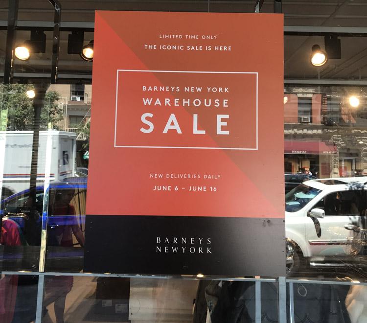 Barneys New York Warehouse Sale