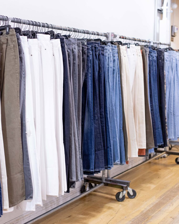 FRAME Sample Sale in Images Denim