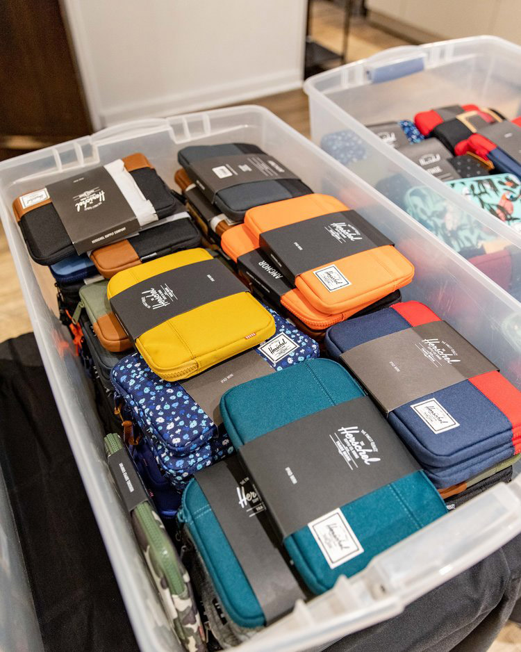 Pics from Inside the Herschel Supply Co. Sample Sale