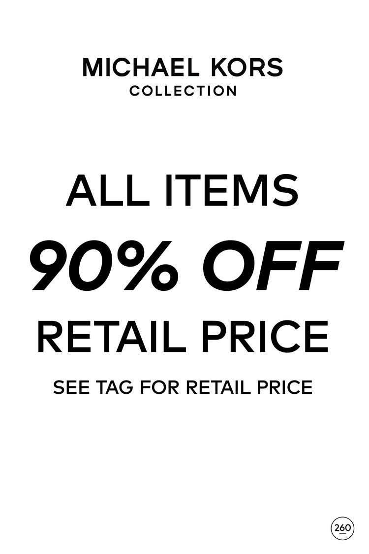 Michael Kors Collection Sample Sale in Images Price List