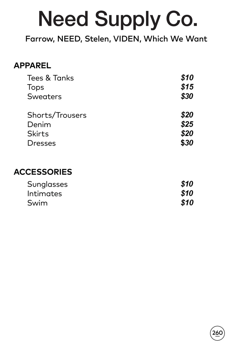 Need Supply Co. + Totokaelo Sample Sale Prices