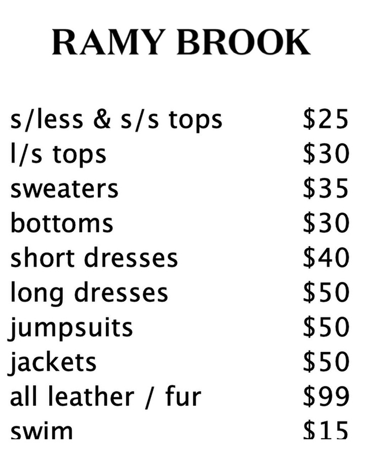 Ramy Brook Sample Sale In Images Price List