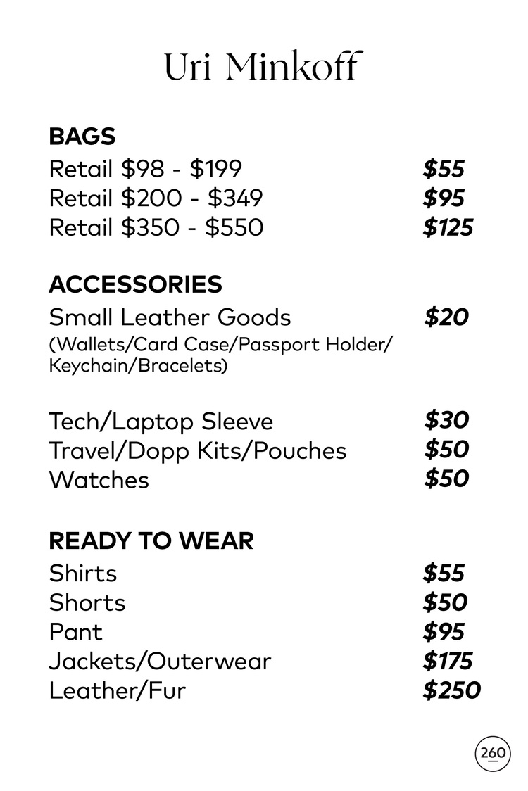 Rebecca Minkoff Sample Sale Footwear Price List
