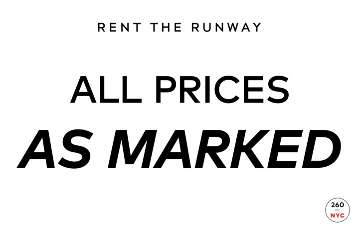 Rent the Runway Sample Sale in Images Prices
