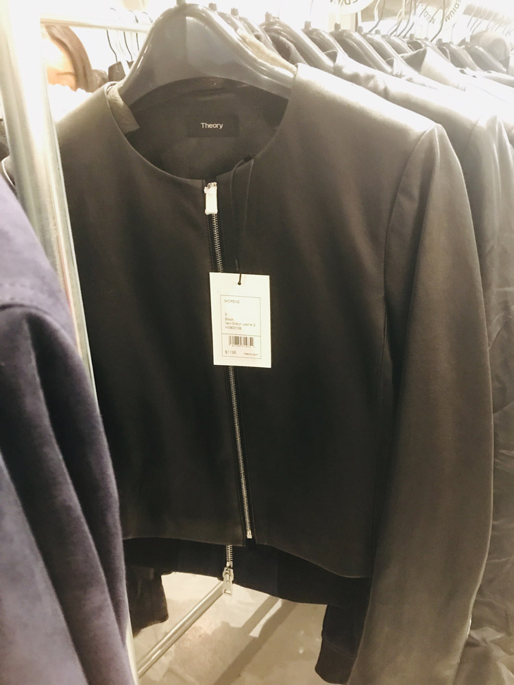 Theory Sample Sale Review Leather Jacket