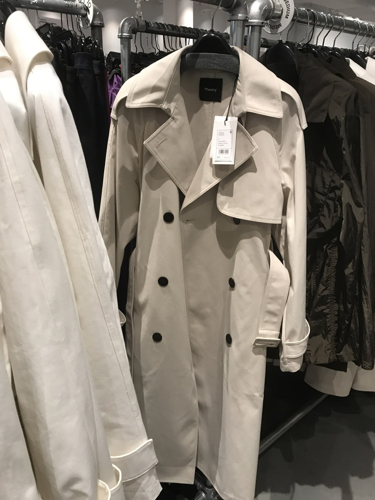 Theory Sample Sale Review Trench Coat