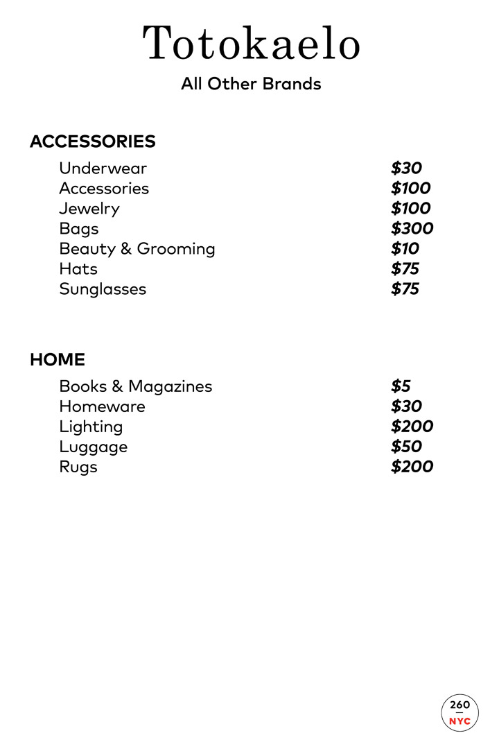 Need Supply Co. + Totokaelo Sample Sale Prices