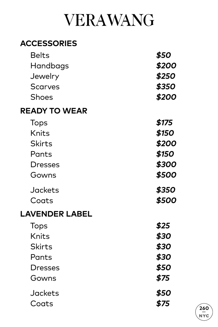 Vera Wang Sample Sale In Images Price List