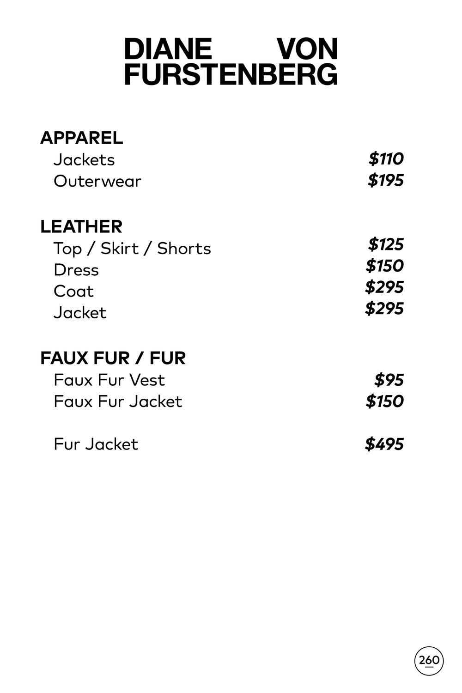 Diane von Furstenberg Sample Sale in Images Price List