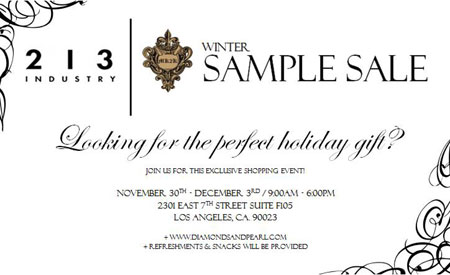213 Industry & MK2K Winter Sample Sale