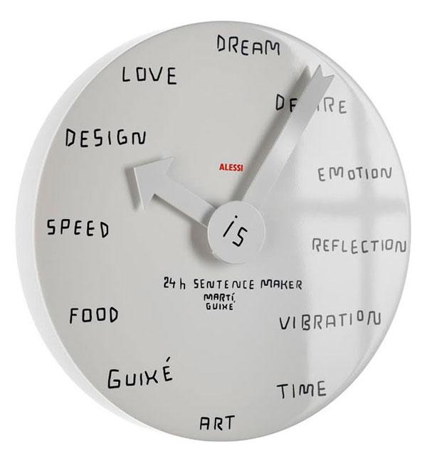 24h Sentence maker clock (designed by Martì Guixé)