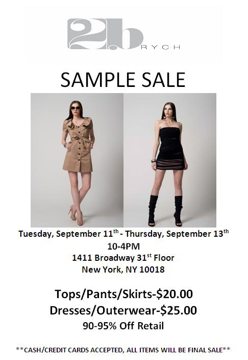 2B. Rych Clothing New York Sample Sale - TheStylishCity.com