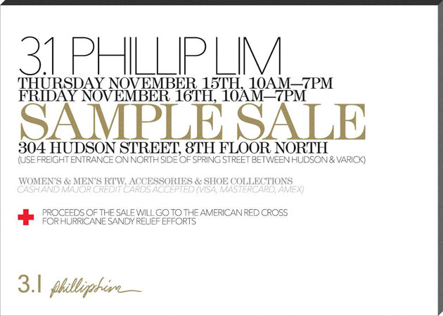 3.1 Phillip Lim Sample Sale