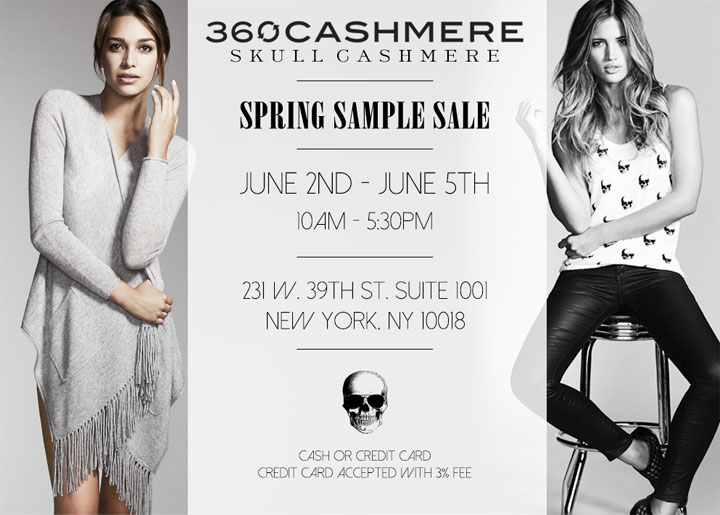 360 Cashmere and Skull Cashmere Spring Sample Sale