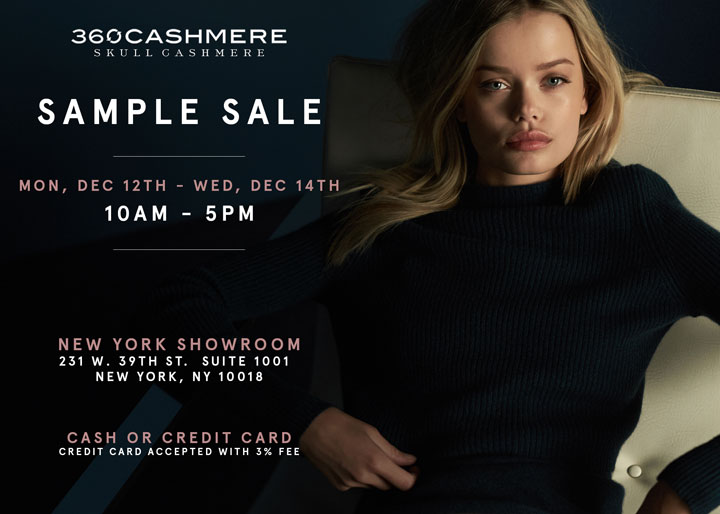 360Cashmere and Skull Cashmere Sample Sale