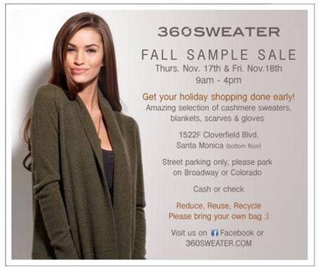 360 Sweater Sample Sale