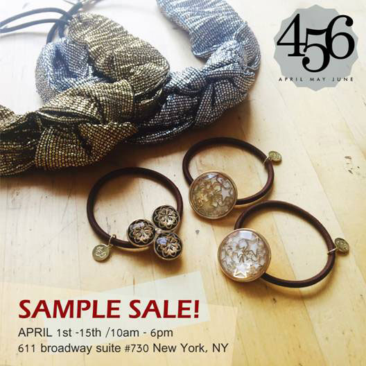 456AprilMayJune Sample Sale